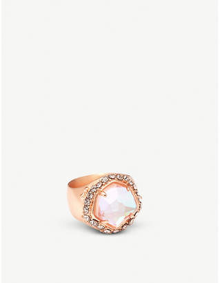 Kendra Scott Schuyler 14ct rose-gold and crystal cocktail ring