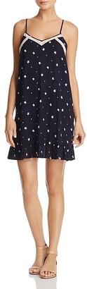 AQUA V-Neck Star-Print Slip Dress - 100% Exclusive $78 thestylecure.com