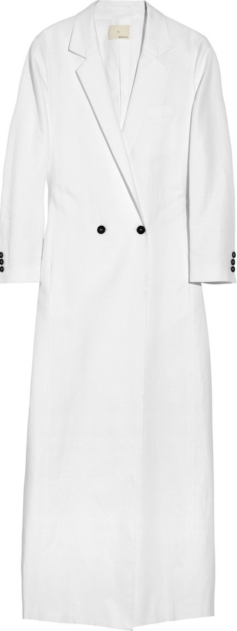 Band Of Outsiders Cotton and linen-blend coat