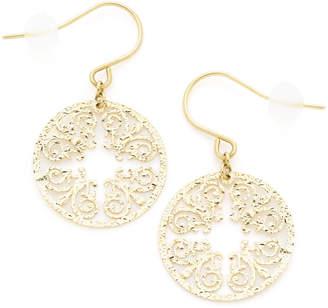 Diamond Jewelry K18YG 透かしモチーフ フックピアス イエローゴールド