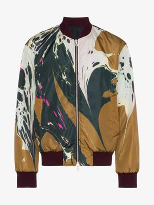 Dries Van Noten reversible pattern bomber jacket