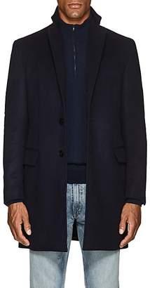 Sanyo Men's Water-Repellent Brushed Wool Melton Coat - Midnight Navy
