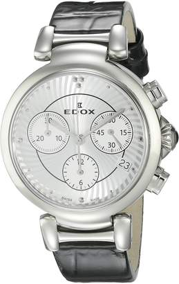Edox Women's 10220 3C AIN LaPassion Analog Display Swiss Quartz Black Watch