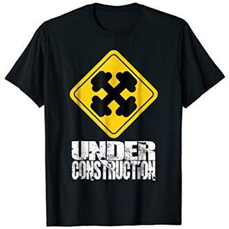 Body Under Construction Funny Sign Gym Fitness Gift T-Shirt