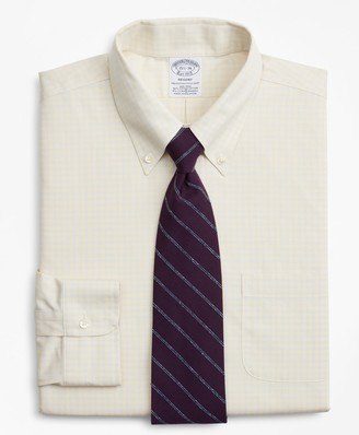 Brooks Brothers Stretch Regent Fitted Dress Shirt, Non-Iron Check