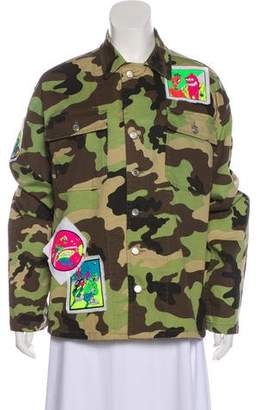 Jeremy Scott Embroidered Camouflage Jacket w/ Tags