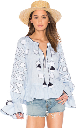 March 11 Long Sleeve Star Embroidered Blouse $770 thestylecure.com