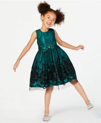 Jayne Copeland Toddler Girls Glitter Flocked Dress