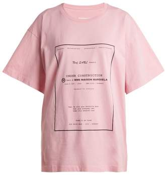 MM6 MAISON MARGIELA Logo Print Cotton T Shirt - Womens - Pink