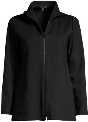 Eileen Fisher Stand Collar Zip-Up Jacket