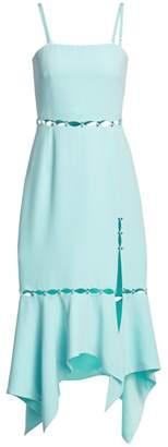 Jonathan Simkhai Stone Studded Eyelet Dress