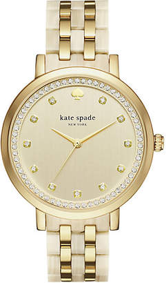 Gold and horn monterey watch $295 thestylecure.com