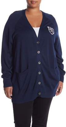 Seven7 Boyfriend Knit Cardigan (Plus Size)