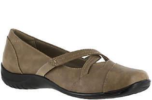 Easy Street Shoes Crisscross Strap Slip-Ons - Marcie