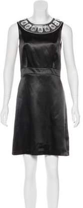 BCBGMAXAZRIA Embellished Knee-Length Dress