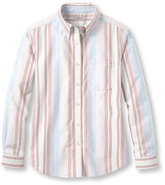 L.L. Bean L.L.Bean Easy-Care Washed Oxford Shirt, Original Fit Long-Sleeve Multistripe