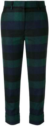 Woolrich check print cropped trousers