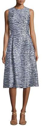 Michael Kors Sleeveless Pleated Dance Dress, Indigo/White $2,495 thestylecure.com
