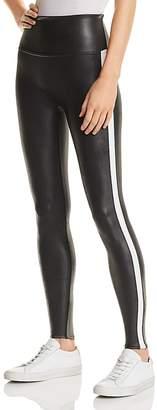 Spanx Faux Leather Stripe Leggings