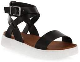 Mia Calla Faux Leather Ankle-Strap Sandals