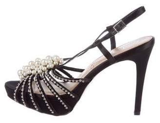 Pour La Victoire Embellished Satin Sandals