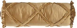 "Austin Horn Classics Diamond-Lattice Neck Roll Pillow, 6"" x 20"""