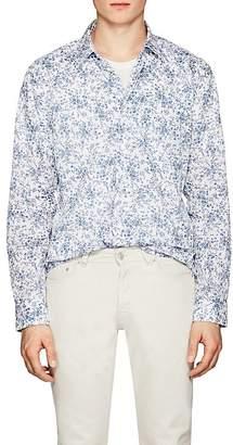 John Varvatos Men's Floral-Print Cotton Shirt