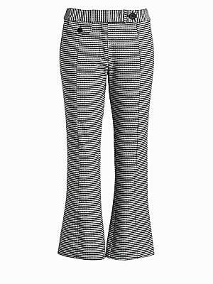 Derek Lam 10 Crosby Women's Flannel Plaid Crop Flare Trousers