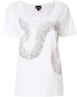 Just Cavalli bead snake T-shirt