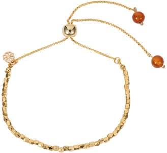 Nadia Minkoff Friendship Bracelet Gold With Orange Agate