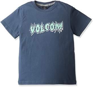 Volcom (ヴォルコム) - (ボルコム) VOLCOM 子供用 かわいい 半袖 プリント Tシャツ 【 Y3511747 / Hesh Lord S/S 】 Y3511747 SMB SMB_ブルー 4T