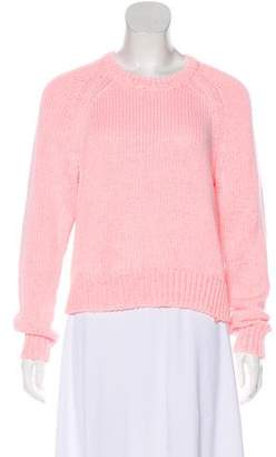 Alexander Wang Cable Knit Crew Neck Sweater