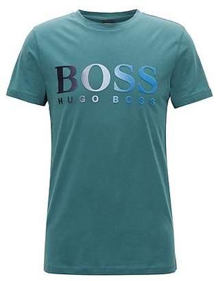 HUGO BOSS Jersey T-shirt with dégradé flocked logo