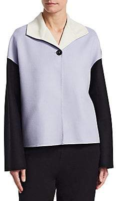 Marni Women's Two-Tone Cashmere Coat