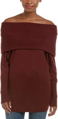 Ella Moss Off-The-Shoulder Wool-Blend Pullover