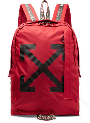 Off-White Off White Easy Logo-Print Canvas Backpack - Men - Red