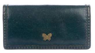 Anna Sui Distressed Leather Wallet