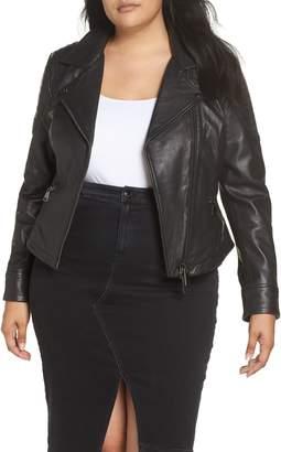 Marina Rinaldi ASHLEY GRAHAM X Ebe Leather Biker Jacket