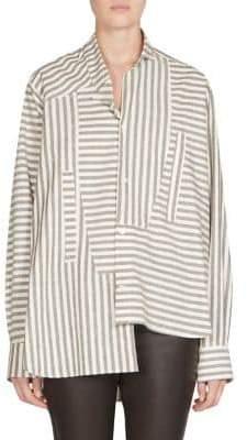 Loewe Striped Asymmetric Poplin Blouse