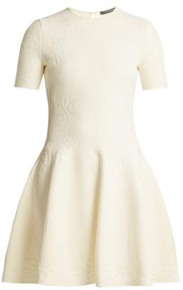 Alexander McQueen Embossed Knit Dress - Womens - Ivory