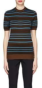 Prada Women's Striped Wool-Blend Short-Sleeve Sweater