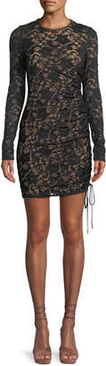 Bailey 44 Disinformation Ruched Lace Mini Dress