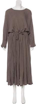 Black Crane Oversize Maxi Dress