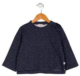 Il Gufo Girls' Metallic Knit Sweater