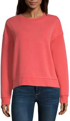 Arizona Womens Crew Neck Long Sleeve Sweatshirt Juniors