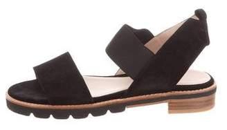 Stuart Weitzman Suede Flat Sandals
