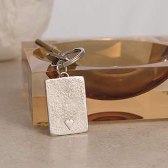 Lancaster & Gibbings Heart Key Ring