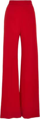 Brandon Maxwell Pebble Crepe Wide-Leg Pants