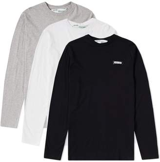 Off-White Off White Long Sleeve Basic Tee - 3 Pack