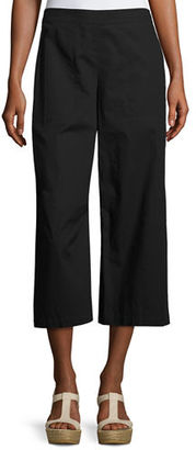 Eileen Fisher Organic Cotton Wide-Leg Cropped Pants $178 thestylecure.com